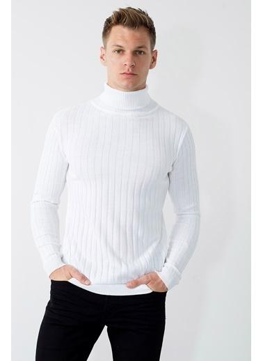 Buratti Buratti Slim Fit Erkek Kazak 549T014 Beyaz
